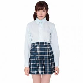 本気で盛れる長袖シャツ (ブルー)