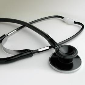 カラー聴診器 (ブラック)